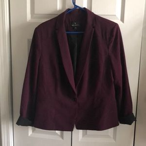 Worthington size 18 burgundy blazer